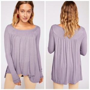 free people • love valley long sleeve tunic top